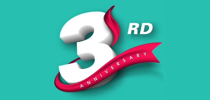3 years of Anniversary